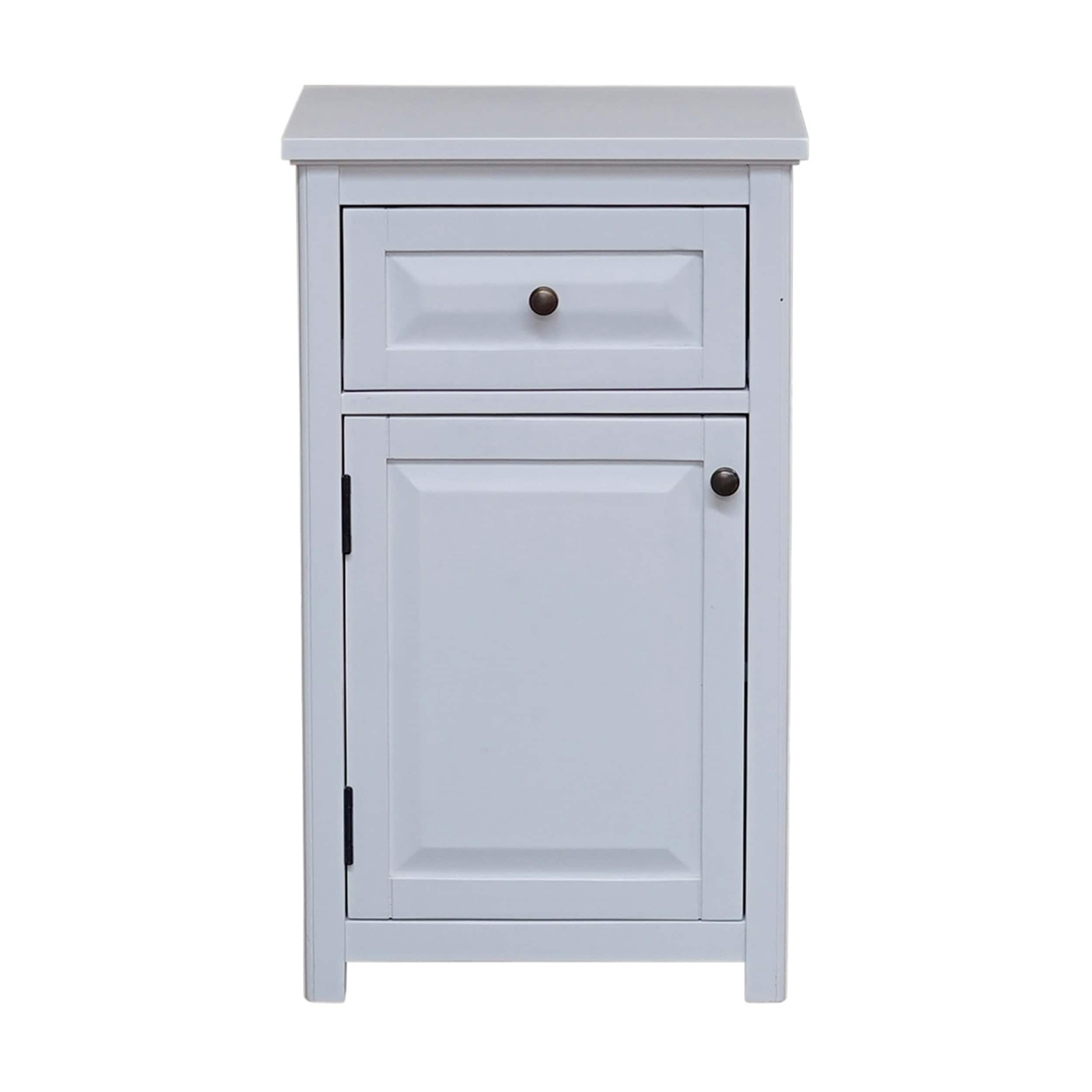 Shop Dorset Bathroom Storage Tower With Open Upper Shelves, Lower Cabinet  And Drawer   Free Shipping Today   Overstock   26050440