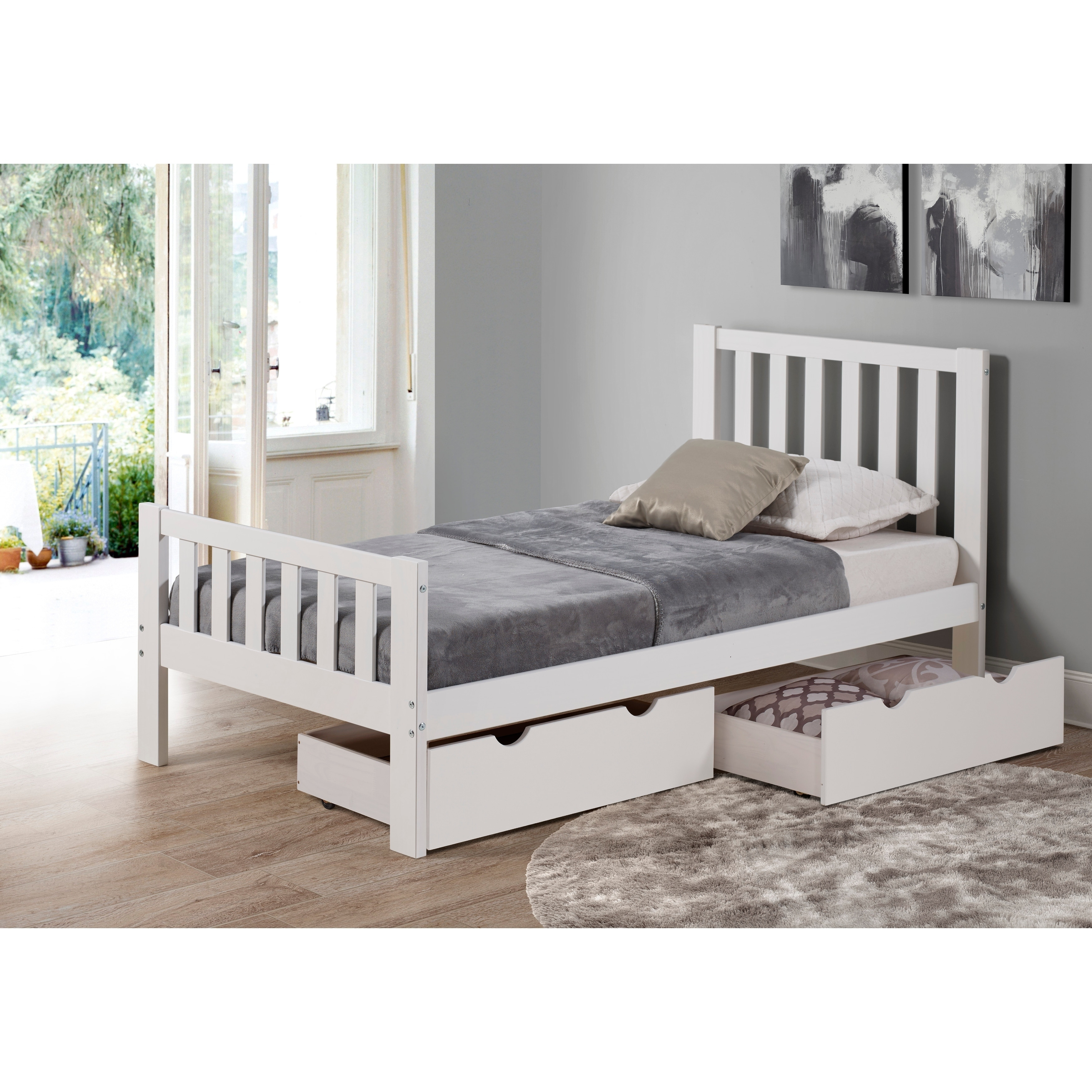 Image of: Shop Black Friday Deals On Alaterre Under Bed Storage Organizer Drawers Set Of 2 Overstock 26050446