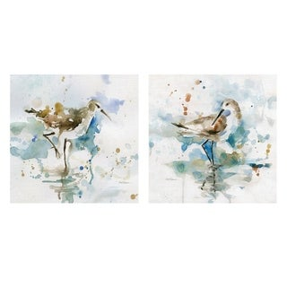Masterpiece Art Gallery Malibu Sand Piper & Palm Beach Piper by Carol Robinson Canvas Art Set of 2