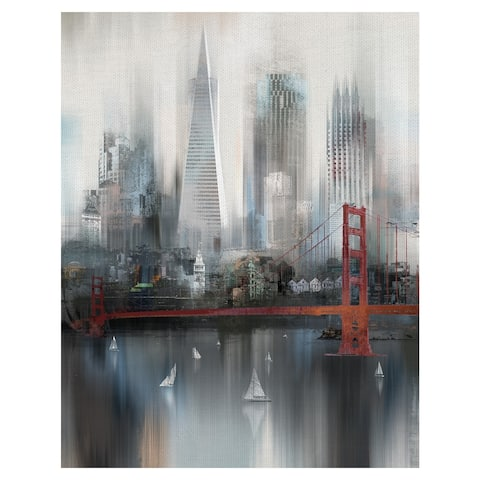 Masterpiece Art Gallery Cityscape San Francisco by Willowbrook Fine Art Canvas Art Print