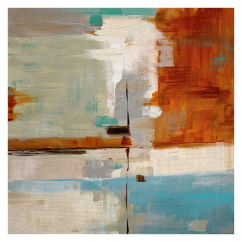 Fine Art canvas Quad Fusion Rectangular Abstract II by Sally Swatland Canvas Art Print