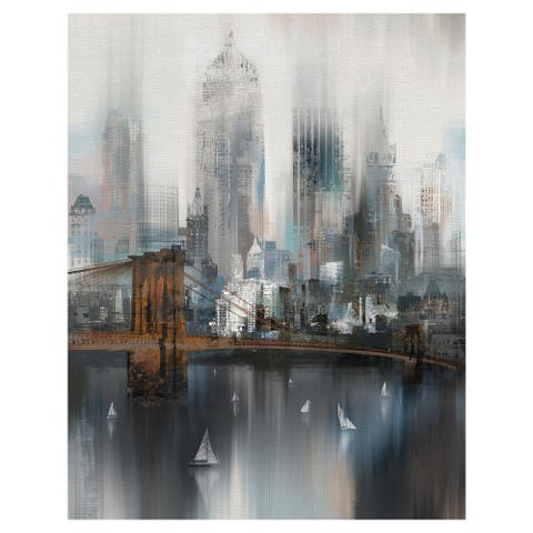 Masterpiece Art Gallery Cityscape NYC by Willowbrook Fine Art Canvas Art Print