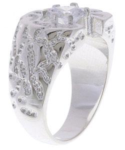 Simon Frank Men's Solita  CZ Ring