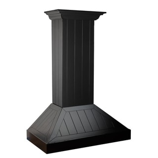 ZLINE 36 in. Wooden Shiplap Range Hood in Black