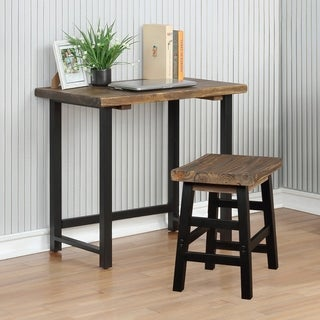 Pomona Metal and Solid Wood Desk