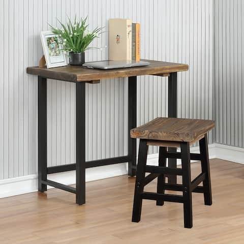 Carbon Loft Lawrence Metal and Solid Wood Desk