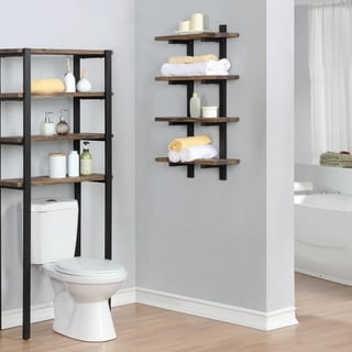 Link to Carbon Loft Lawrence Metal and Solid Wood Bath Natural 36-inch Wall Shelf Similar Items in Bathroom Furniture