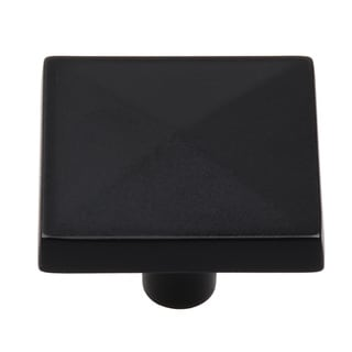 Link to GlideRite 1.25-inch Matte Black Classic Pyramid Cabinet Knobs (Pack of 10) Similar Items in Hardware