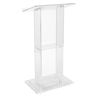 Oklahoma Sound® Clear Acrylic Lectern with Shelf