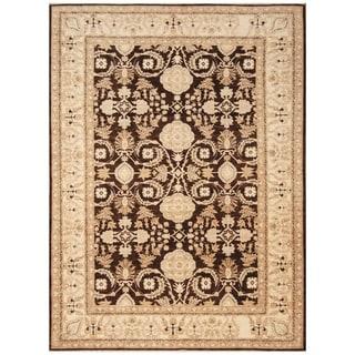 Handmade Vegetable Dye Oushak Wool Rug (Afghanistan) - 6'2 x 8'6