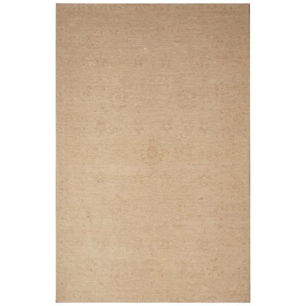Handmade Vegetable Dye Oushak Wool Rug (Afghanistan) - 6' x 9'