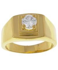 Simon Frank 14k Gold Overlay Men's  CZ Ring