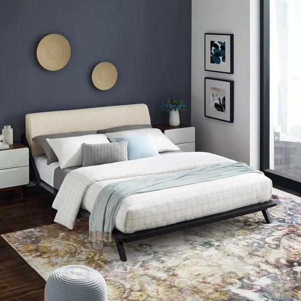 Luella Queen Upholstered Fabric Platform Bed. Opens flyout.