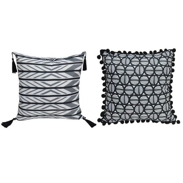 Lauren Taylor- Chloe Cushions With Tassels (2 pk)