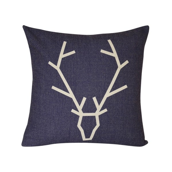 Lauren Taylor- Antler Faux Linen Feather Filled Cushion