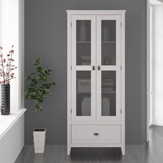 Link to Avenue Greene Tamarisk 30 inch Wide Storage Cabinet with Mesh Doors Similar Items in Dining Room & Bar Furniture