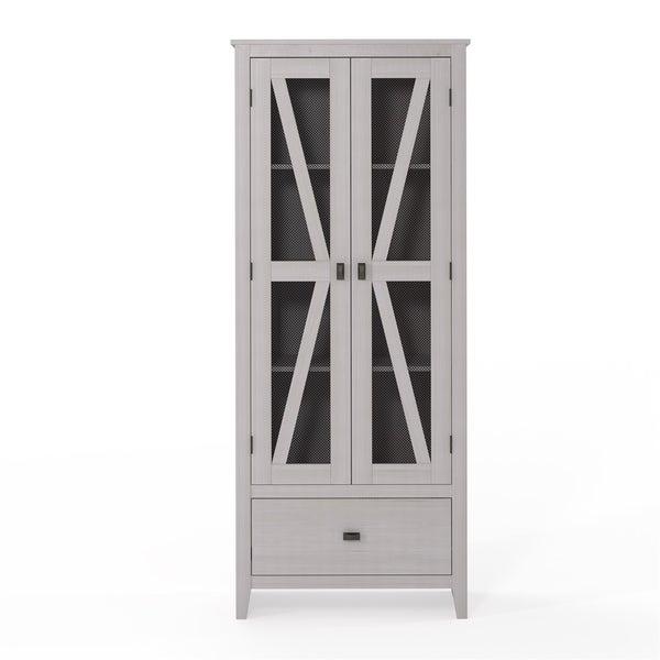 Avenue Greene Tamarisk 30 Inch Wide Storage Cabinet With Mesh Doors