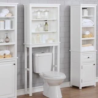 Dorset Over the Toilet Space Saver Storage with Open Upper Shelves