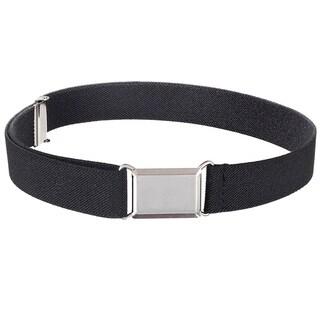 Hold'Em Kids Belt Elastic Adjustable Stretch Boy Belt Silver Buckle