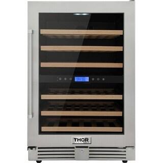 """Thor Kitchen - 24"""" 46-Bottles Indoor/Outdoor Dual Zone Wine Cooler"""