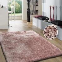 Dusty Pink 5x7 Shag Area Rug - 5' x 7'