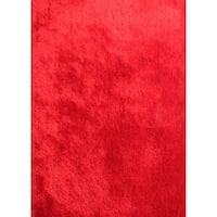 Red 5x7 Shag Area Rug - 5' x 7'
