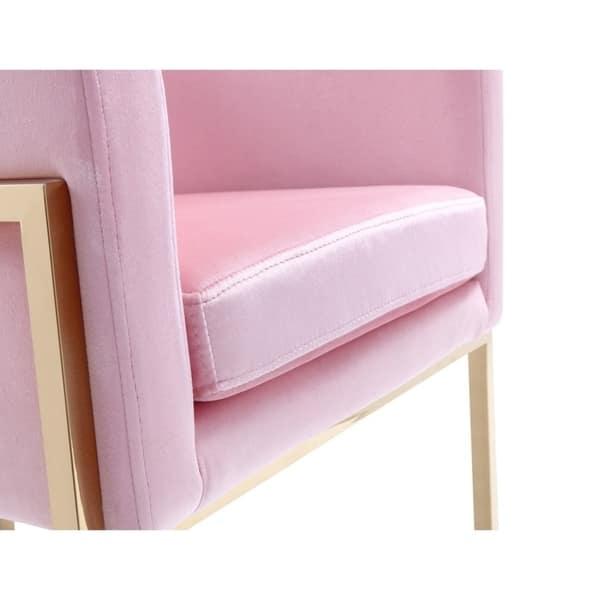 Remarkable Shop Modrest Betsy Modern Pink Velvet Gold Dining Chair Uwap Interior Chair Design Uwaporg