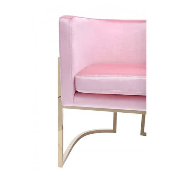Enjoyable Shop Modrest Betsy Modern Pink Velvet Gold Dining Chair Uwap Interior Chair Design Uwaporg