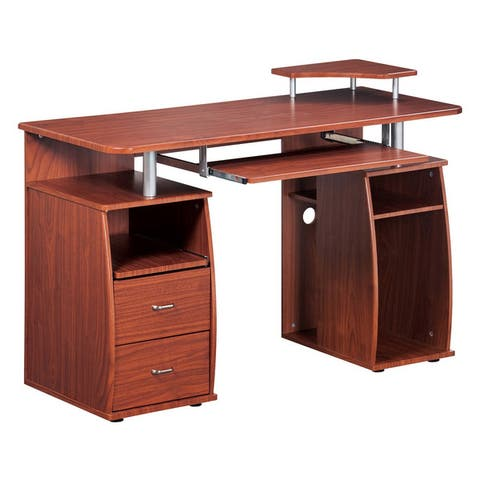 Home Office Executive Style Computer Desk with Storage