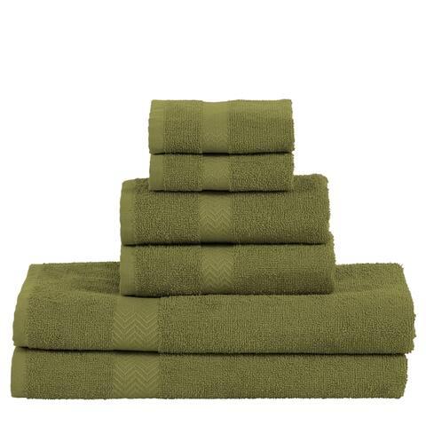 Miranda Haus 100-Percent Cotton Eco-Friendly 6-Piece Towel Set - N/A