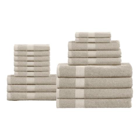 Miranda Haus 100-Percent Cotton Eco-Friendly 18-Piece Towel Set