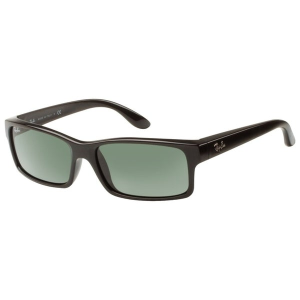 b652c795195 Shop Ray-Ban Men s RB4151 Black Frame Green Classic 59mm Lens Sunglasses -  Free Shipping Today - Overstock.com - 26051381