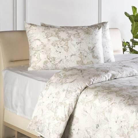 Enchante Home Essential 3 pieces Turkish Cotton Sateen Duvet Cover Set
