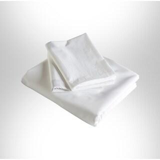 Enchante Home Plain 3 pieces Turkish Cotton Duvet Cover Set