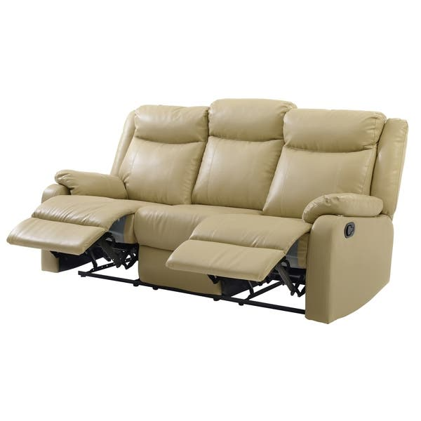 Wondrous Shop Lyke Home Double Reclining Sofa Putty Free Shipping Pdpeps Interior Chair Design Pdpepsorg