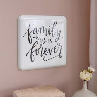 Danya B. Farmhouse Home Decor Metal Wall Art- Family is Forever