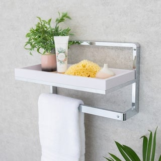 Danya B. Wall Mount Towel Rack and Shelf