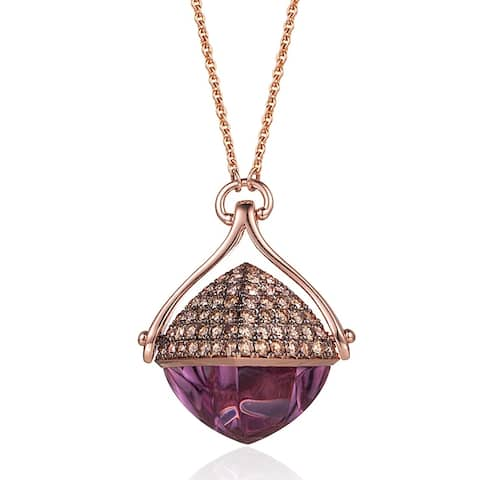 Amethyst and Diamond 28-inch Necklace