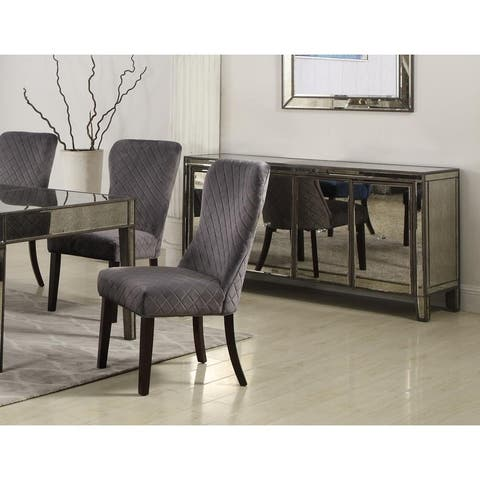 Best Master Furniture Suede Upholstered Dining Side Chairs (Set of 2)