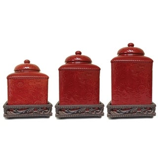 Link to HiEnd Accents Canister and Base Set Similar Items in Kitchen Storage