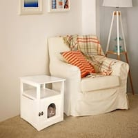 Aristo Wooden Pet House End Table - White