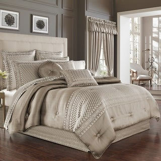 Link to Five Queens Court Beaumont Champagne 4 Piece Luxury Queen Size Comforter Set (As Is Item) Similar Items in As Is