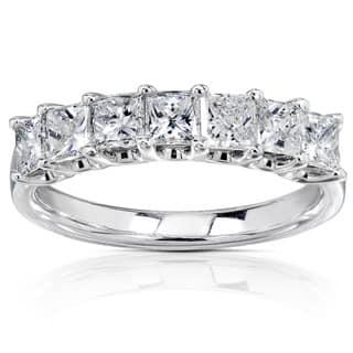 Annello 14k White Gold 1ct TDW Princess-cut Diamond Band|https://ak1.ostkcdn.com/images/products/2605172/P10814383.jpg?impolicy=medium