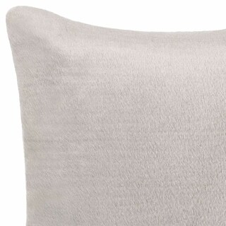 Vera Wang Faux Pelage Grey Throw Pillow