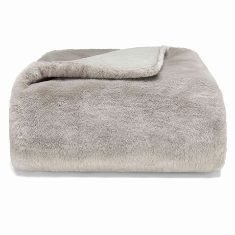 Vera Wang Faux Pelange Throw