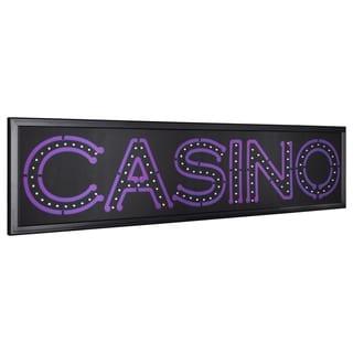 American Art Decor Casino LED Light Up Sign Wall Decor