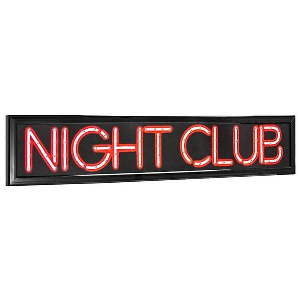 American Art Decor Night Cub LED Light Up Sign Wall Decor