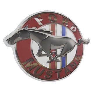 American Art Decor Vintage Ford Mustang Logo Embossed Metal Sign