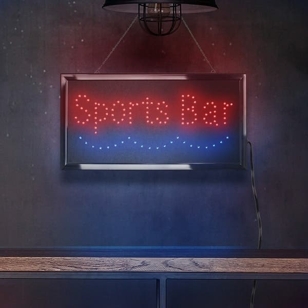 American Art Decor Sports Bar Framed Light Up Led Sign Wall Decor On Sale Overstock 26051853