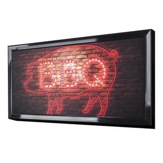 American Art Decor BBQ Framed Light Up LED Sign Wall Decor